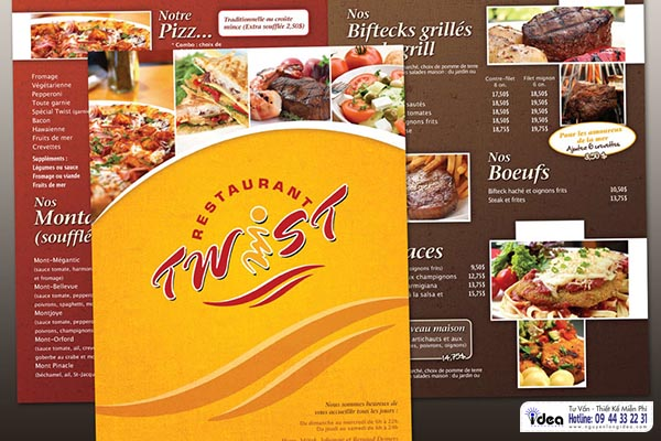 in ấn menu