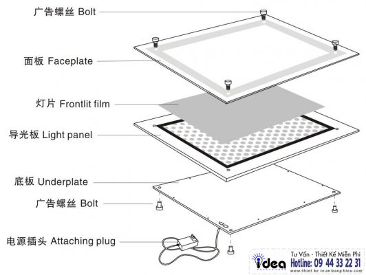 Cách làm hộp đèn siêu mỏng – bán hộp đèn siêu mỏng giá rẻ