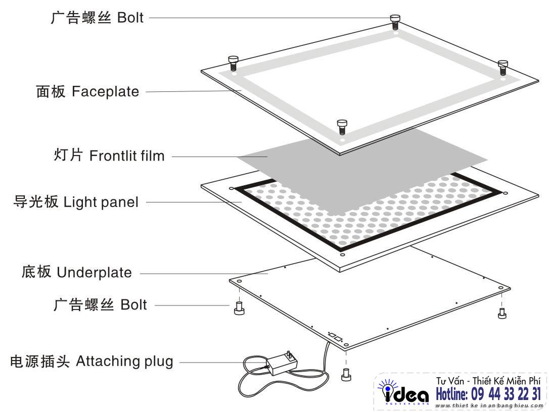Hộp đèn siêu mỏng - Hộp đèn siêu mỏng giá rẻ