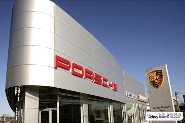 Bảng hiệu alu Porsche