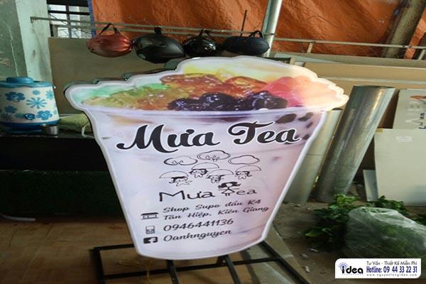 Chuyên làm hộp đèn ly trà sữa theo yêu cầu tại tp hcm.