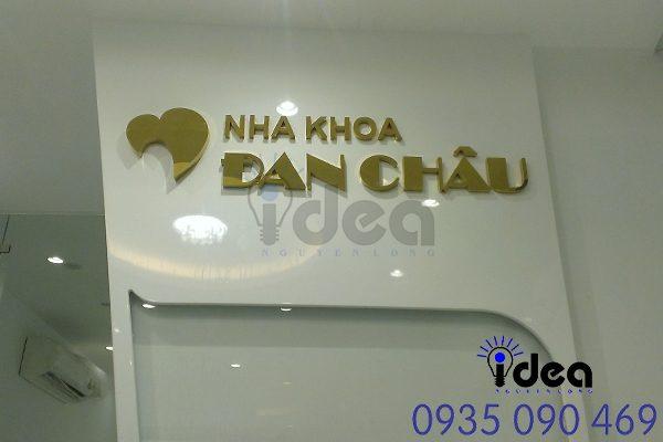 Logo inox chất lượng sáng đẹp