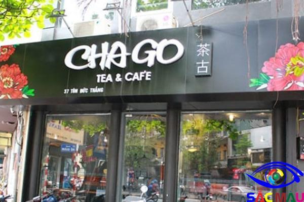 Bảng hiệu quán ăn vặt đẹp alu trà và cafe
