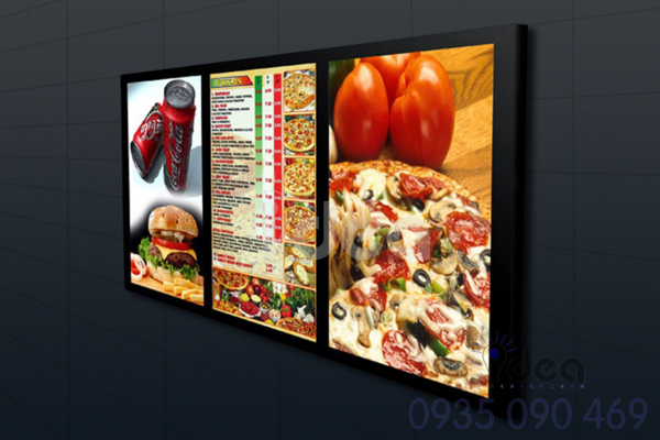 Mẫu biển quảng cáo ăn uống Hộp đèn menu