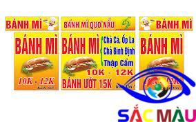 Mẫu thiết kế Bảng hiệu tiệm bánh mì