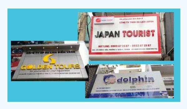 Mẫu Bảng hiệu công ty du lịch đẹp