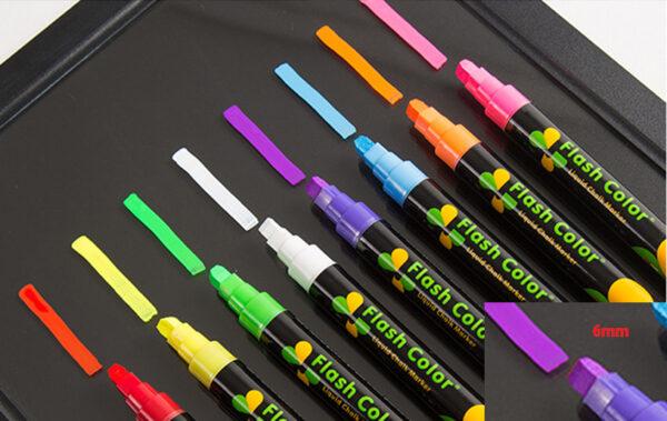 Bút viết bảng dạ quang ngòi 6mm dùng cho bảng led viết tay
